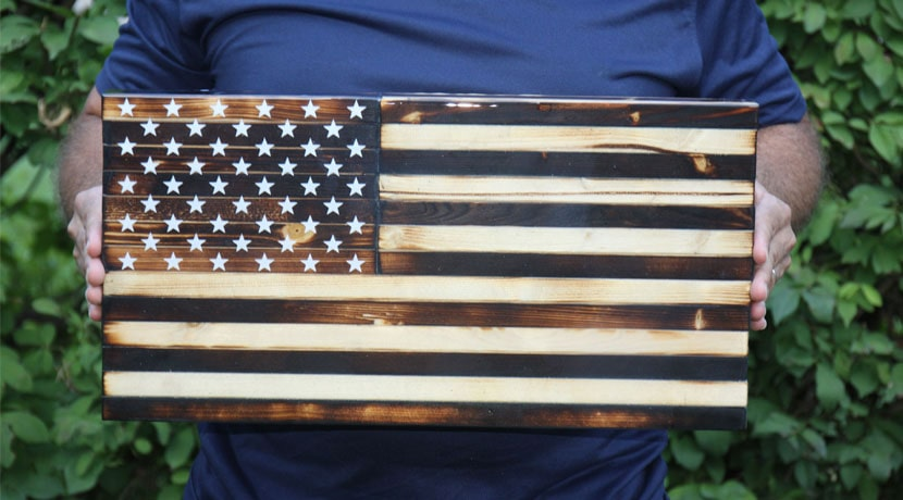Rustic Epoxy Flag